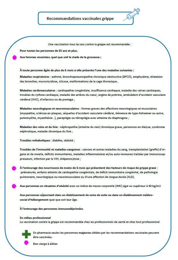 Calendrier Des Vaccinations Et Recommandations Vaccinales 2019.Page Speciale Vaccination Anti Grippale Par Les Pharmaciens